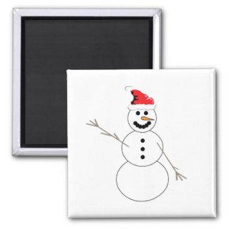Happy Christmas Snowman Magnet