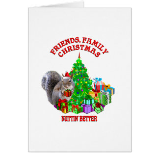 Happy Christmas Squirrel Greeting Card