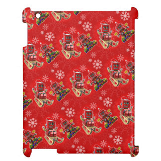 Happy christmas toy robot case for the iPad