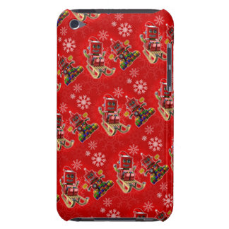 Happy christmas toy robot iPod touch cases