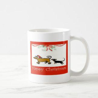 Happy Christmas two dachshunds Coffee Mug