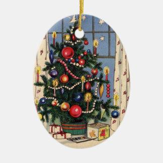 Happy Christmas-Vintage Tree Ceramic Ornament