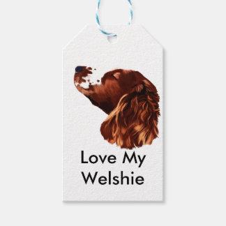 Happy Christmas Welsh Springer Spaniel Gift Tags