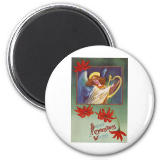 Happy Christmas Wishes 2 Inch Round Magnet