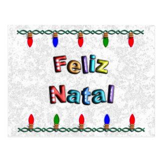 Happy Christmas With Light of Christmas Post Card