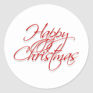 """Happy Christmas"" xmas gift tags Classic Round Sticker"
