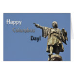 Happy Christopher Columbus Day Statue Cards