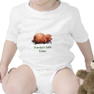 Happy, Chubby Pig: Oil Pastel Art: Grandpa T-shirt