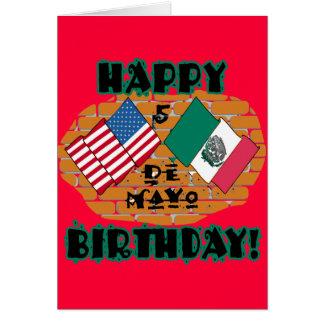 Happy Cinco de Mayo Birthday Greeting Card