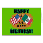 Happy Cinco de Mayo Birthday Greeting Cards