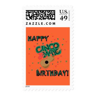 Happy Cinco de Mayo Birthday! Postage Stamps