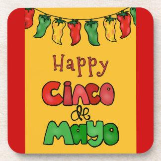 Happy Cinco de Mayo Drink Coasters