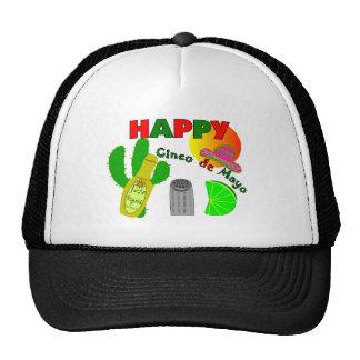 """""""Happy Cinco de Mayo"""" Lime, Tequila & Salt Design Trucker Hat"""