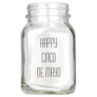 Happy Cinco de Mayo Text Typography Mason Jar