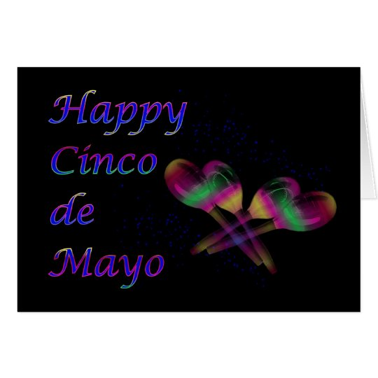 Happy Cinco de Mayo with maracas Card