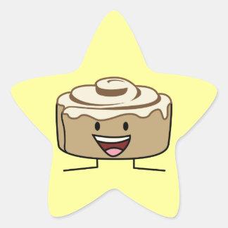 Happy Cinnamon Roll Bun Sticker