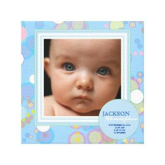 Happy Circles Baby Boy Photo Birth Canvas Canvas Prints