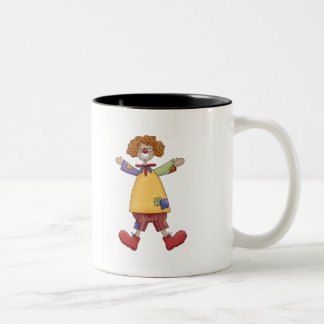 Happy Circus Clown Two-Tone Coffee Mug