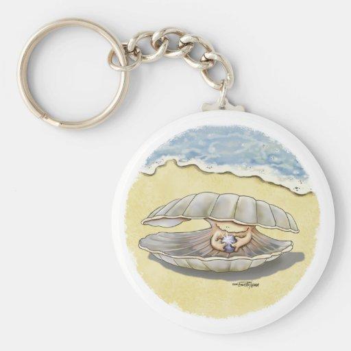 Happy Clam keychain