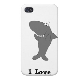 Happy Clapping Cartoon Shark iPhone 4 Cover
