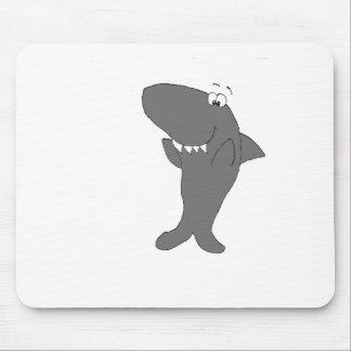 Happy Clapping Cartoon Shark Mouse Pad