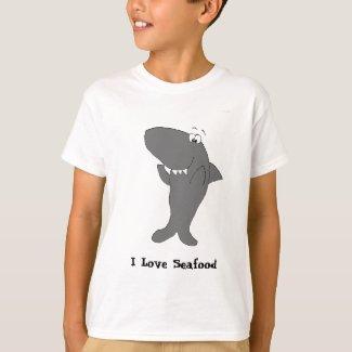 Happy Clapping Cartoon Shark T-Shirt