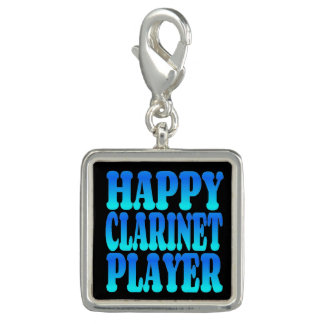 Happy Clarinet Player in Blue Charm