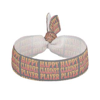 Happy Clarinet Player Ribbon Hair Tie