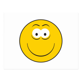 Happy Classic Smiley Face Postcard