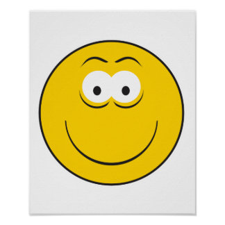 Happy Classic Smiley Face Poster
