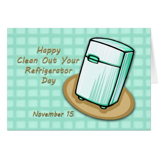 clean refrigerator clipart. happy clean out your refrigerator day card clipart y