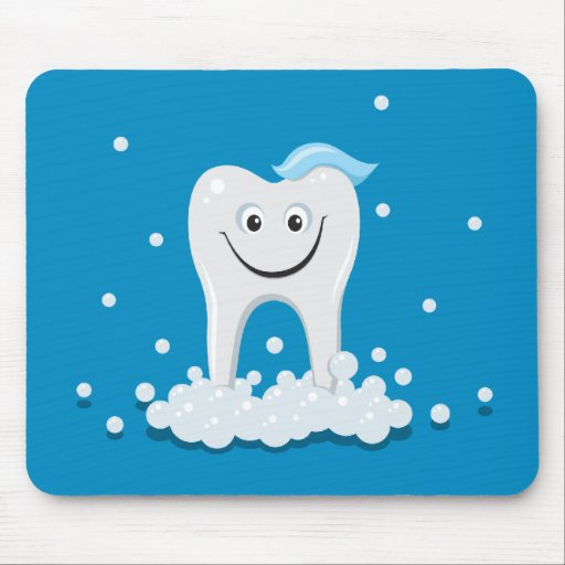 Happy clean tooth mousepad