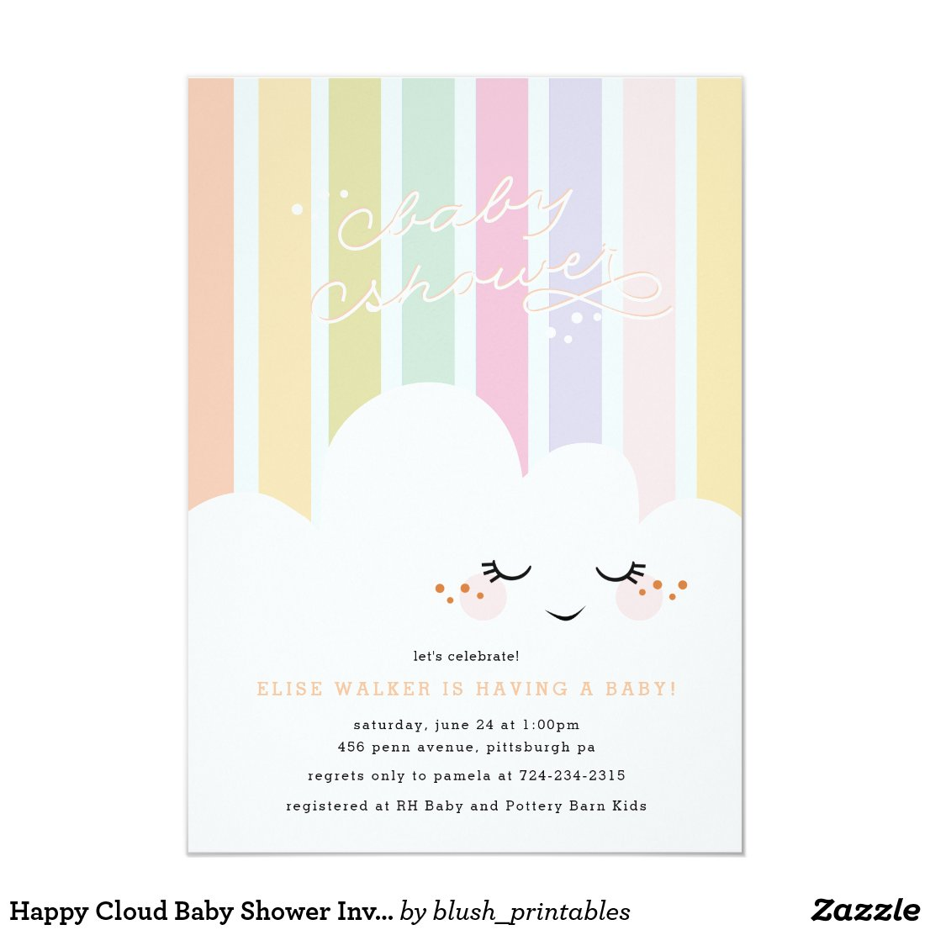 Happy Cloud Baby Shower Invitation