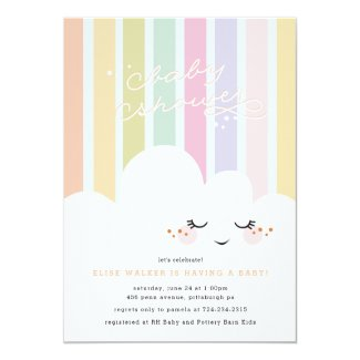 Happy Cloud Baby Shower Invitation