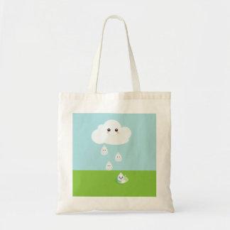 Happy Cloud Canvas Bag