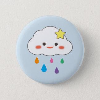 Happy Cloud & Rainbow Droplets Button
