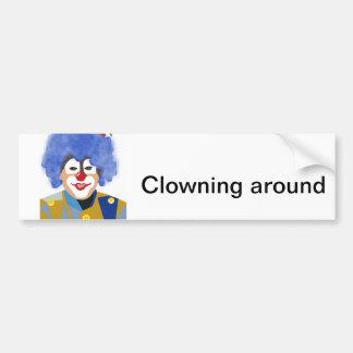 Happy Clown Car Bumper Sticker