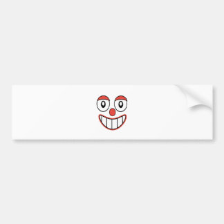 Happy Clown Cartoon Drawing Bumper Sticker