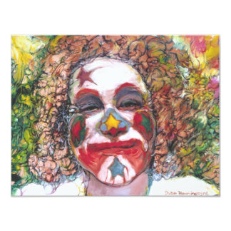 "Happy Clown ""Dubie Hummingbyrd"" Card"