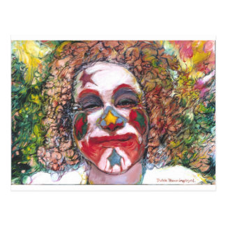 "Happy Clown ""Dubie Hummingbyrd"" Postcard"