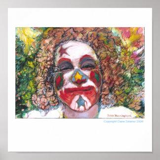 "Happy Clown ""Dubie Hummingbyrd"" Poster"