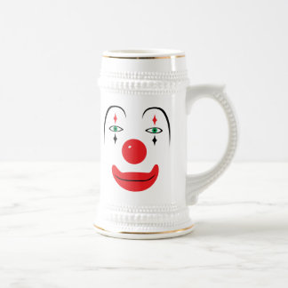Happy Clown Face Beer Stein