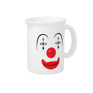 Happy Clown Face Beverage Pitcher