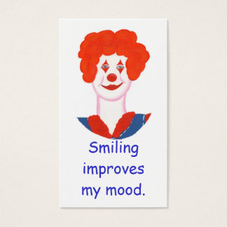 Happy Clown Face, Smiling improves my mood cards