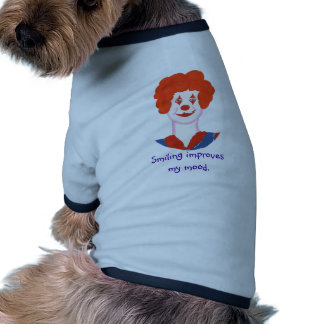 Happy Clown Face, Smiling improves my mood Pet Clothing