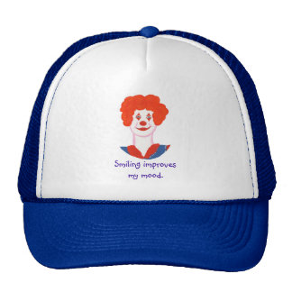 Happy Clown Face Smiling improves my mood Trucker Hats