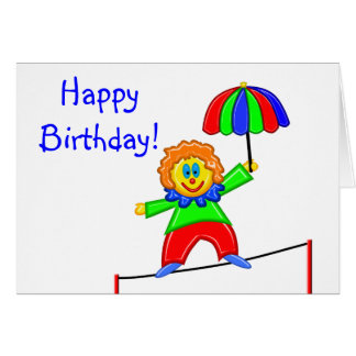 Happy Clown Small Greeting Card