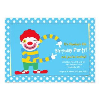 Happy Clown Two Invitation