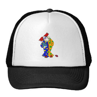Happy clown with ball mesh hats