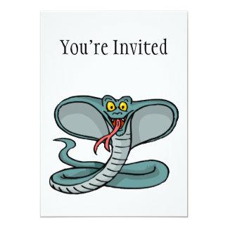 Happy Cobra 5x7 Paper Invitation Card